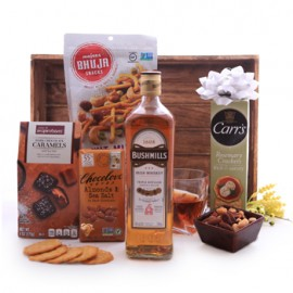 Bushmills Irish Whiskey Sweet and Savory Gift Basket