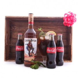 Captain Morgan and Coke Gift Set
