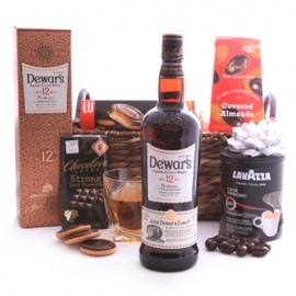 Dewars Sweets and Coffee Gift Basket
