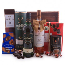 Glenfiddich and Macallan Sweet Basket