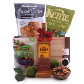 Jose Cuervo Blue Agave Gold Tequila and Savory Treats Assortment