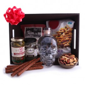 Crystal Skull Vodka Party Basket