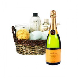 Spa Basket and Sparkling Wine
