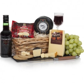 The Perfect Pair Cheese and Port Gift Basket