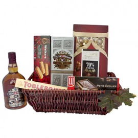 Chocolate and Chivas Regal Gift Basket