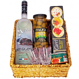 Grey Goose and Caviar Gift Basket