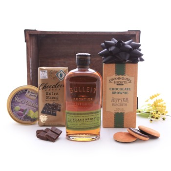 Bulleit Whiskey Sweet Gift Basket
