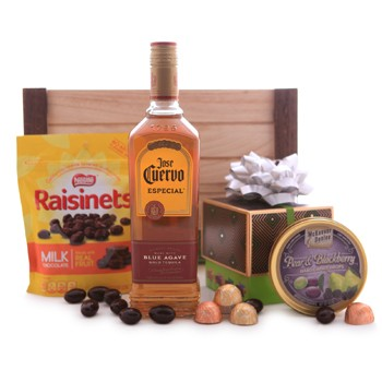 Jose Cuervo Blue Agave Gold Tequila and Sweets Gift