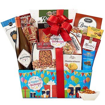Send Birthday Wine Gift Basket Worldwide