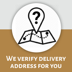 We verify delivery address for you